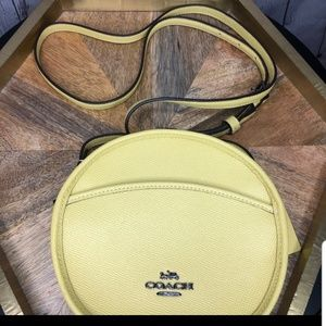 Coach Sunflower Yellow Leather Canteen Crossbody